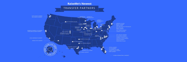 RaiseMe Transfer Partners